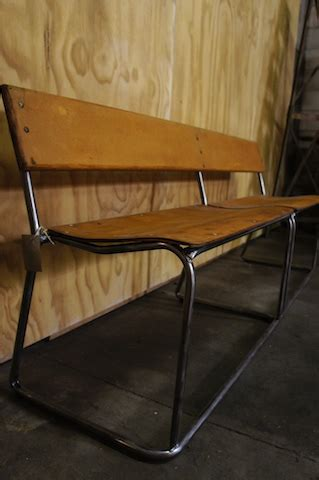 old school bench sold vintage school bench graphite
