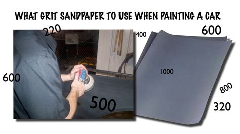 How To Use A Car Sand A Car For Paint What Grit Of Sandpaper To Use When