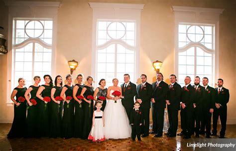 modern black and red wedding shaleena and brandon a