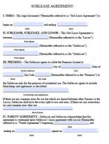 subletting contract template sublease agreement template real estate forms