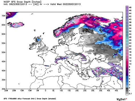 snow depth map who will get a white this year earth earthsky