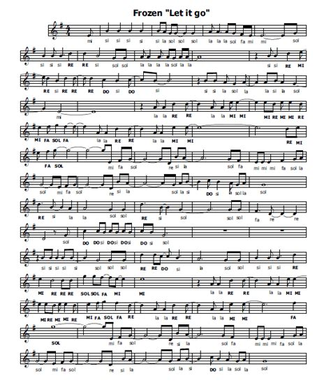 testo let it go italiano musica e spartiti gratis per flauto dolce frozen let it go