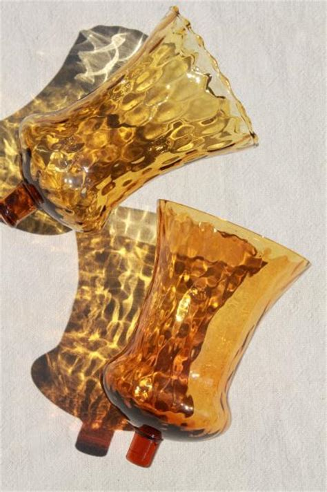 Glass Votive Candle Holders For Sconces Vintage Blown Glass Candle Cups Glass Votive