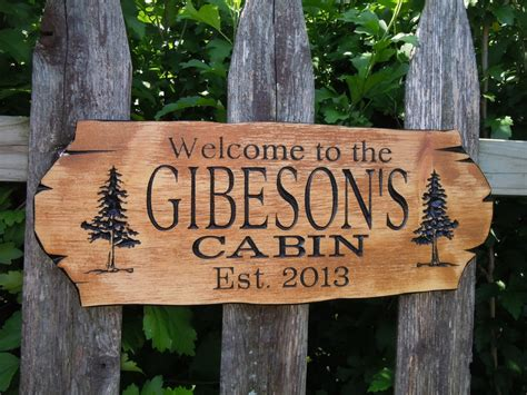 Wood Signs For Cabins by Unavailable Listing On Etsy