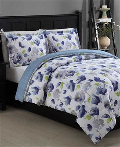 macy bedding sets emily reversible 3 piece full queen comforter set bed in