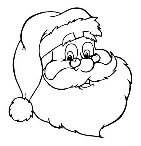 imagenes para colorear acerca de la navidad cara de santa claus de navideno para colorear dibujar