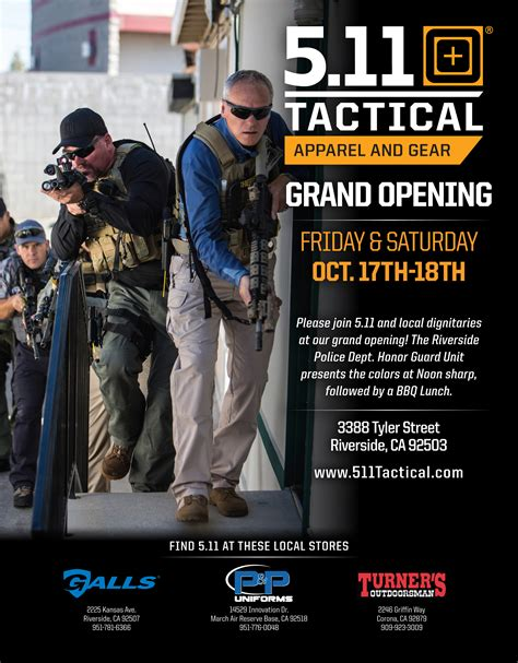 5 New Opening On October 16 by 5 11 Tactical Riverside Retail Store Grand Opening