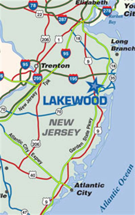 map of new jersey garden state parkway lakewood nj lakewood transportation new jersey