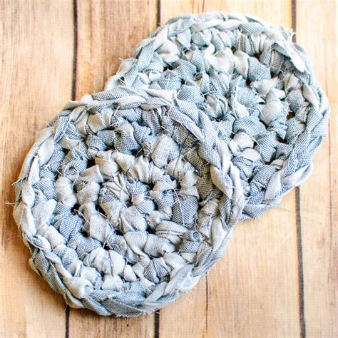 fabric yarn pattern fabric crochet coaster pattern awesome upcycles with
