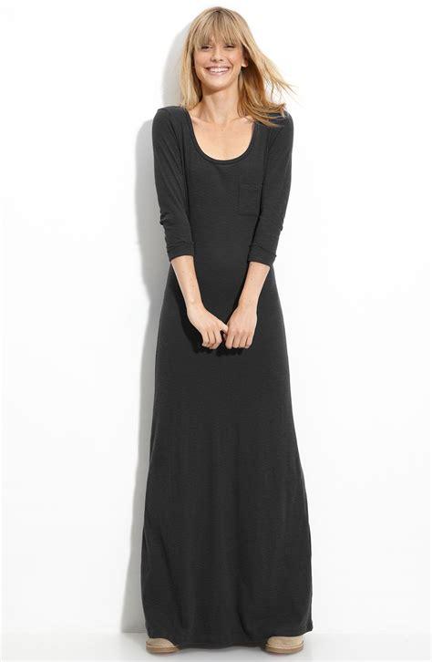 knitted maxi dress uk frenchi slub knit maxi dress juniors in black lyst