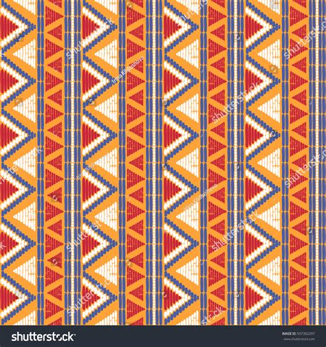 seamless tribal pattern tribal pattern vector seamless ethics african stock vector