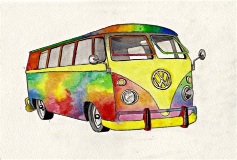 hippie van drawing hippie van by laceyandthelevee on deviantart