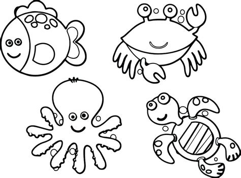 the sea coloring book coloring sheets of the sea creatures gulfmik