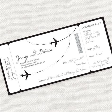 boarding pass place card template invitation template boarding pass image collections