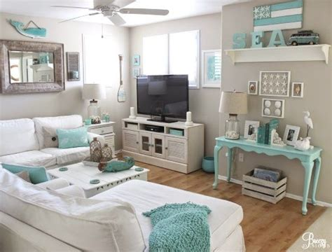 house tour white and pale tiffany blue makes a charming easy breezy living in an aqua blue cottage blue