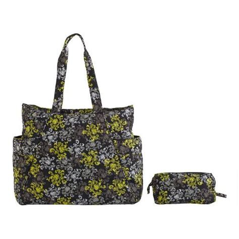 Quilted Bag Pattern by Quilted Tote And Cosmetics Bag With Pattern