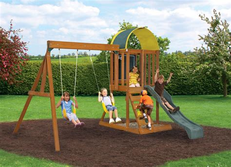 small swings kids wooden outdoor playsets