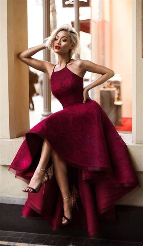 Dress Chike Maroon charming prom dress high low prom dress maroon prom