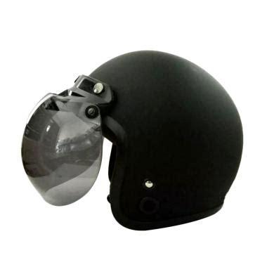 Helm Bogo Retro Klasik Standart Fino Lubro Coklat Glossy Pet Topi Helm jual helm bogo branded berkualitas harga menarik