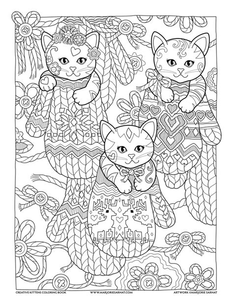 creative cats coloring book mittens creative kittens coloring book by marjorie