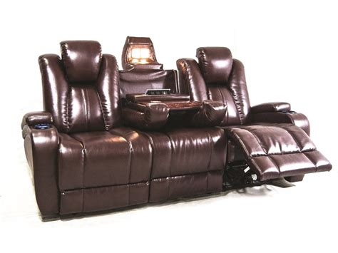 Theater Recliner Sofa Synergy Home Furnishings Living Room Naples Power Reclining Theater Sofa 040103 Furniture Fair