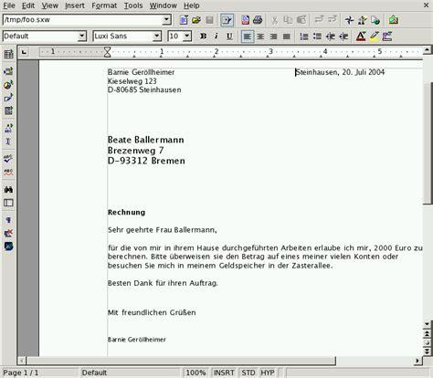 Musterbrief Englisch Order Brief Im Englischen Schreiben