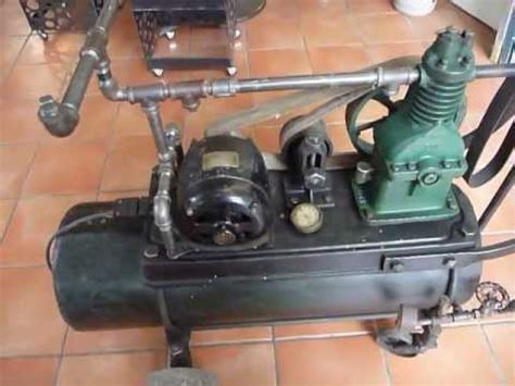 vintage 1920 s curtis air compressor flamingsteel