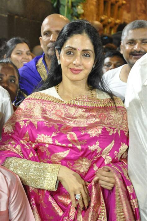 sridevi update sridevi visits tirumala with her husband boney kapoor