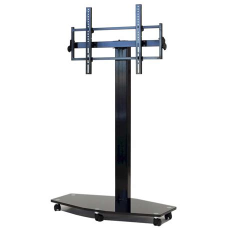 transdeco 80 inch tv floor pedestal mounting system with
