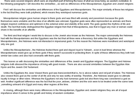 Similarities Essay by The Similarities Between The Mesopotamian And Religions At Essaypedia
