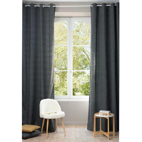 charcoal grey curtain panels chenille charcoal grey eyelet curtain 140 x 300 cm