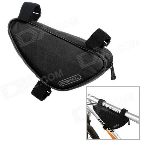 Bicycle Storage Bag Black roswheel triangle shape bike zipper polyester storage bag