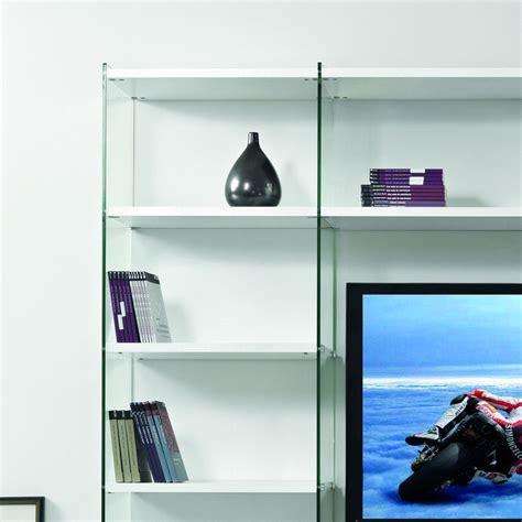 porta libreria libreria porta tv byblos da parete in legno e vetro 250 x
