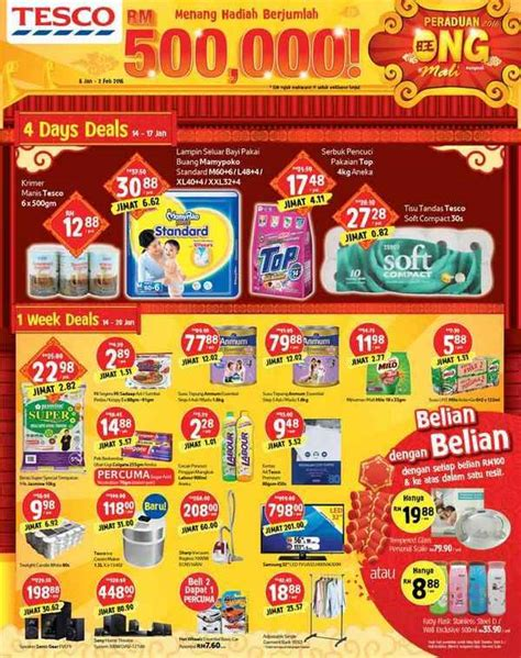 tesco malaysia new year promotion tesco weekly promotion cny on mali specials