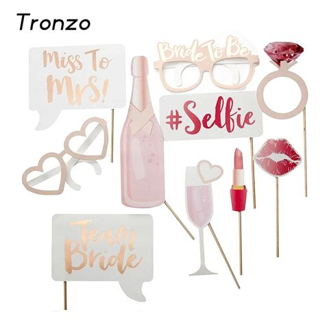Aksesoris Foto Photobooth Property Photo Prop Bridal Shower tronzo wedding decoration photo booth prop hen 10pcs