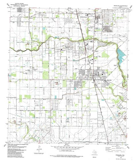 map pearland texas pearland topographic map tx usgs topo 29095e3