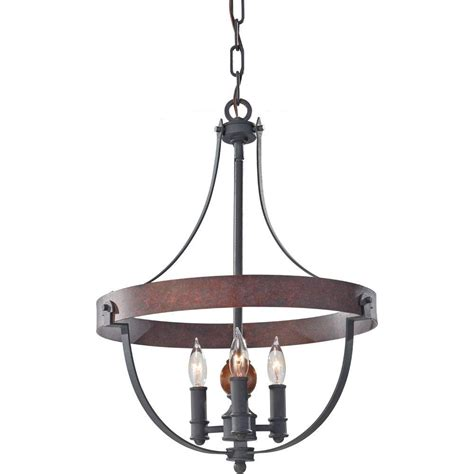 Acorn Chandelier Feiss Alston 3 Light Charcoal Brick Acorn 1 Tier Chandelier F2797 3af Cba The Home Depot
