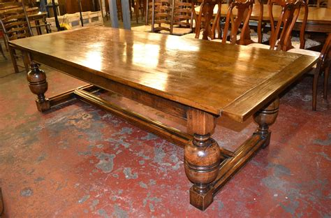 Antique Oak Dining Room Table Vintage Solid Oak Refectory Dining Table