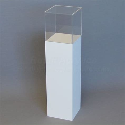 Home Pedestals 90cm Tall White Acrylic Display Pedestal Plinth With