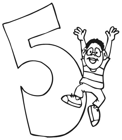 Coloring Page For 5 Year Boy by Happy Birthday Coloring Pages Free Best Happy