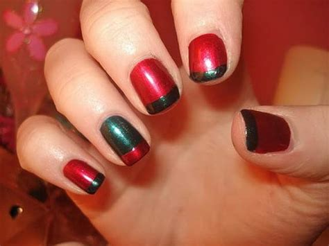 easy nail art for christmas christmas nail designs le belle amour