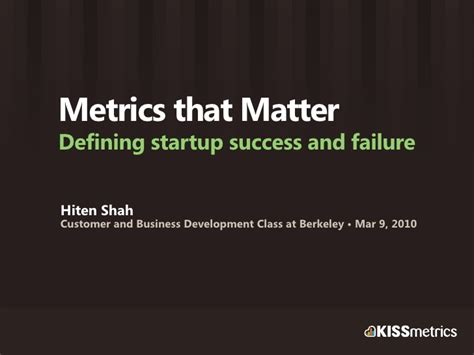 Berkeley Mba Class Size by Metrics For Startup Success And Failure