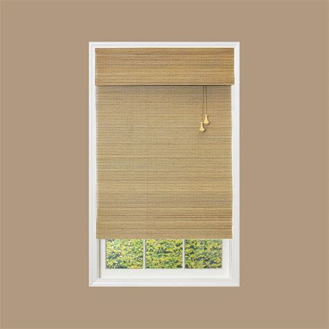 home depot l shades home decorators collection natural multi weave bamboo
