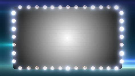 flashing lights for signs a blank marquee sign with flashing lights stock footage