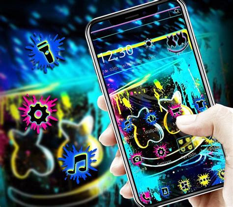 colorful marshmello graffiti theme  android apk