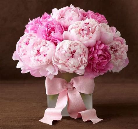 peony flower arrangement floral delight stunning hot and pale pink peonies with a