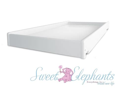 Baby Changing Table Mattress New Universal White Baby Cot Side Rail Change Table Free Bonus Mattress Ebay