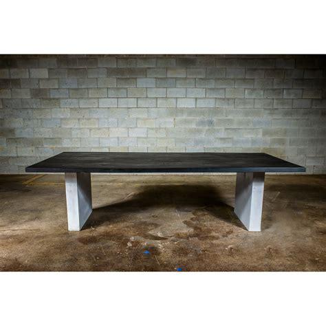 dining table black concrete wood dining table black stained ash wood concrete legs 96 quot l x 38 quot w x 30 quot h bois design