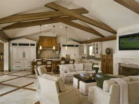 ceiling support beams beautiful interiors that feature exposed wooden beams