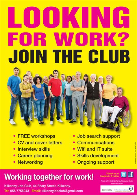 club flyer design jobs kilkenny job club fr mcgrath centre kilkenny